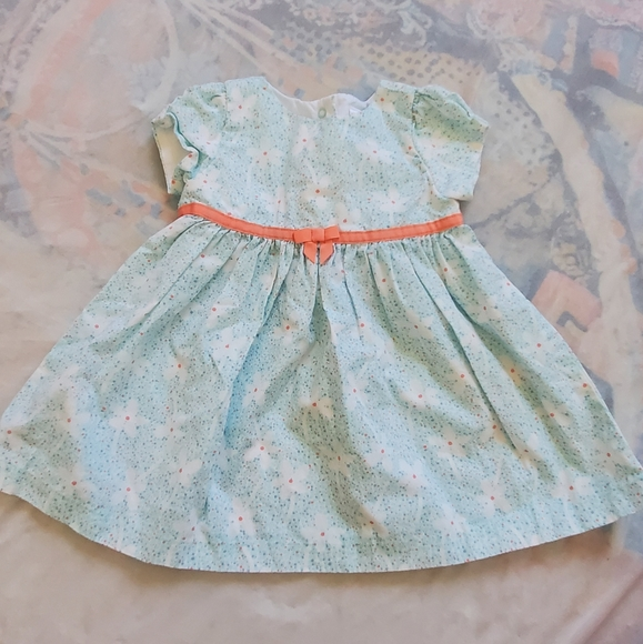 Gymboree Girls 6M Blue Floral Dress